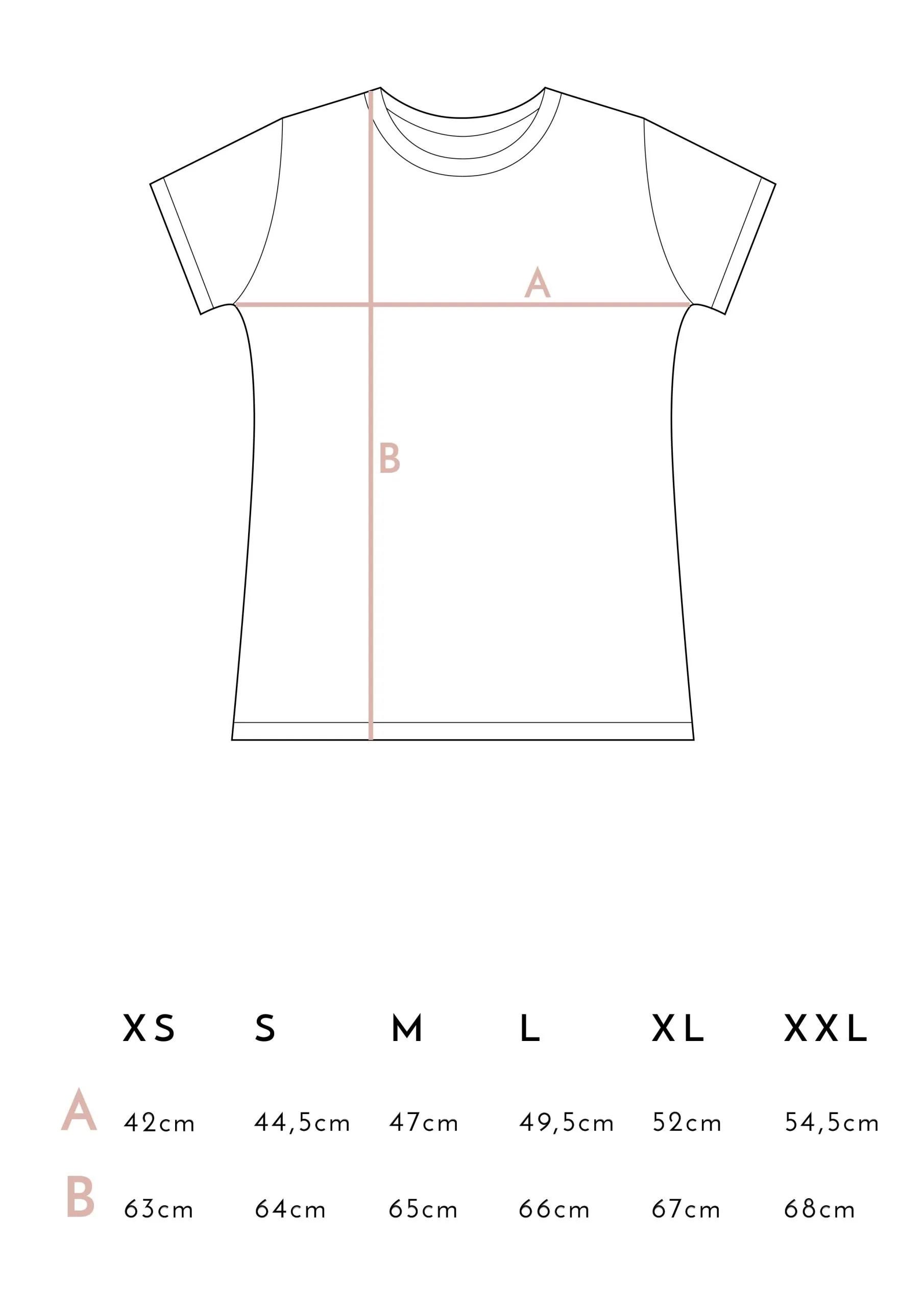 Medidas Camisetas Juntas es mejor Rosa