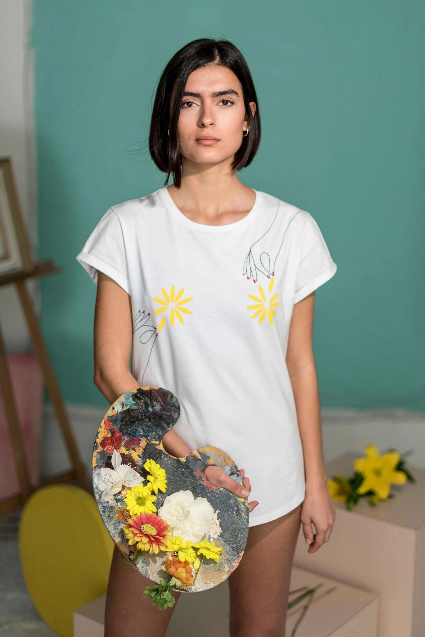 Camiseta-Blanca-Algodón-Orgánico-Flores-Crisálida11