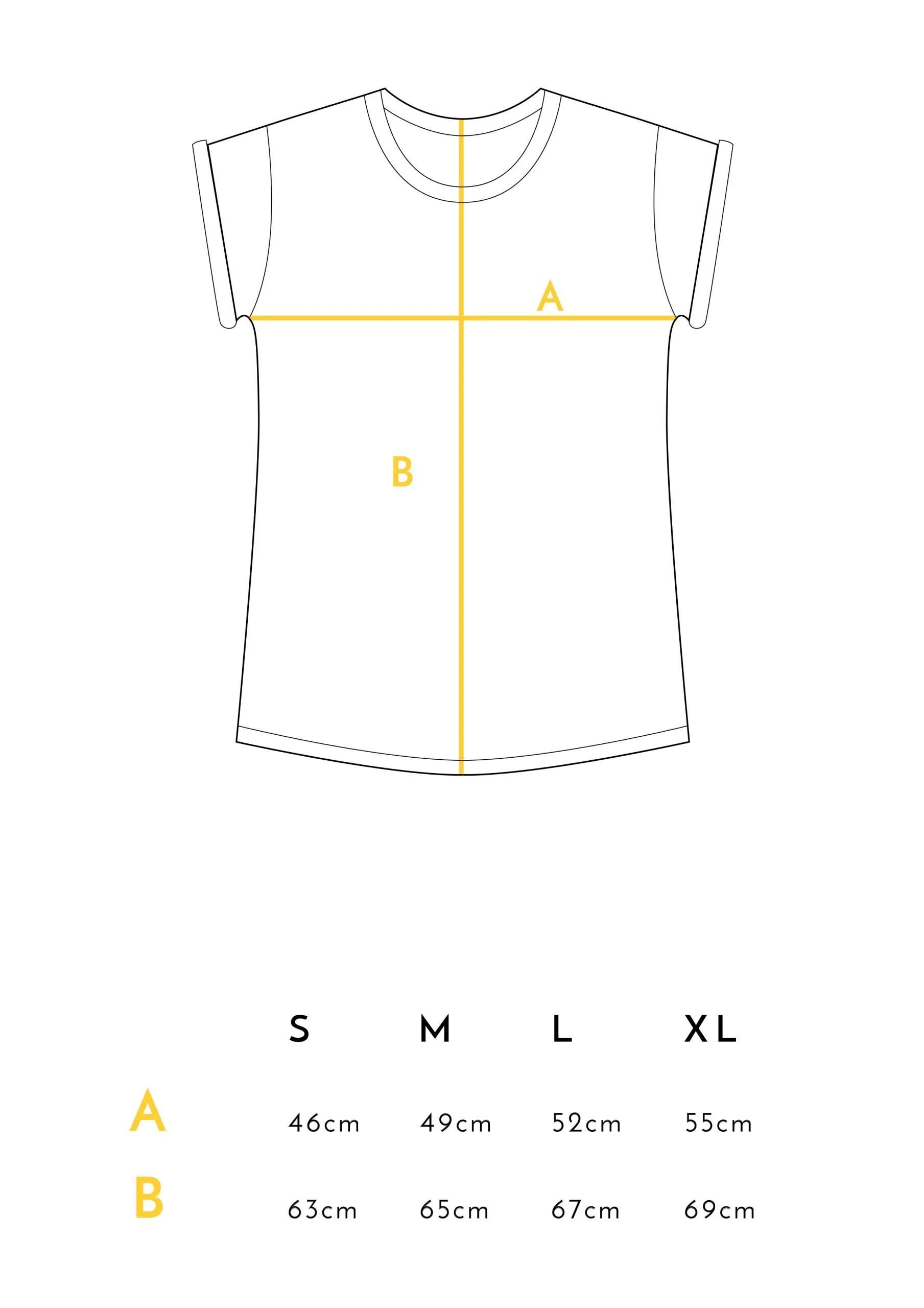 Medidas Camisetas Detucuerpocrecenflores Crisálida