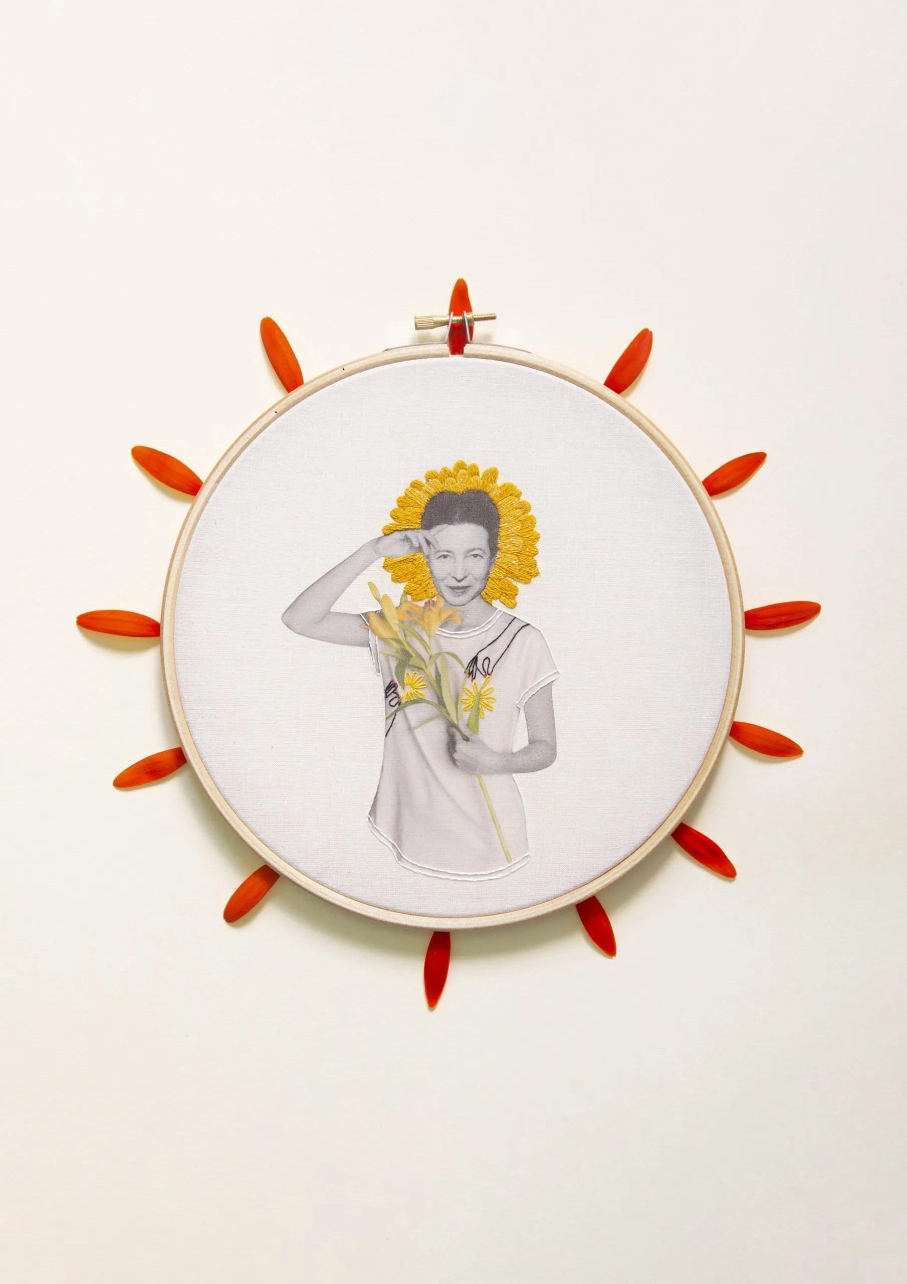 Simone de Beauvoir Collage Studio Variopinto Crisálida