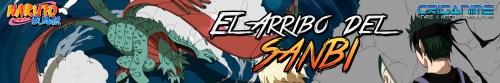 Naruto Shippuden El Arribo del Sanbi Banner