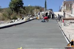 Avances de calle en el Barrio Santo Santiago