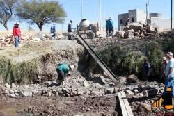 Reinicia la construcción del puente en Arboledas