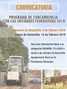 Programa de concurrencia con las Entidades Federativas 2018