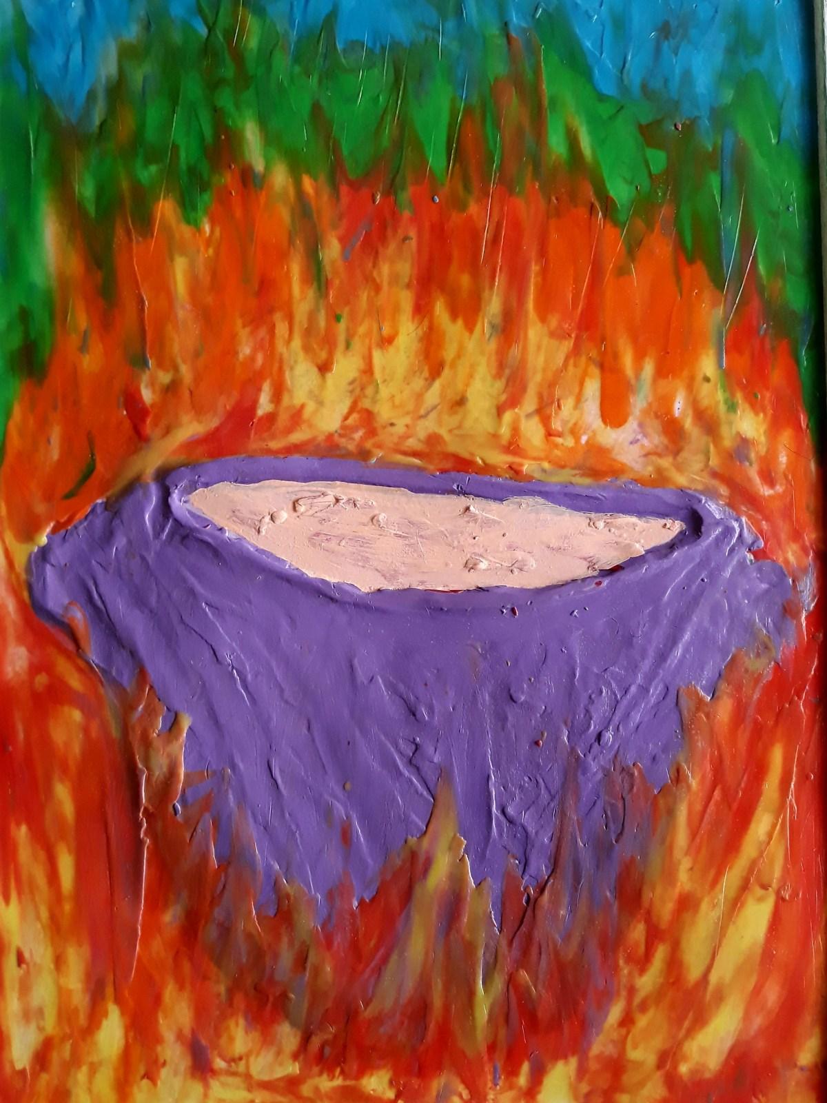 El caldero violeta