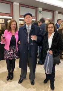 Cristina con sus padres