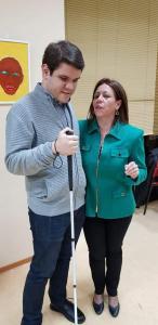 Cristina con José Manuel Delicado