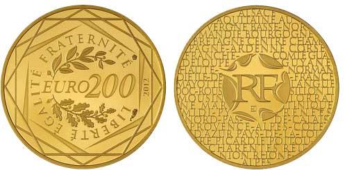 200 Euros Francia Oro