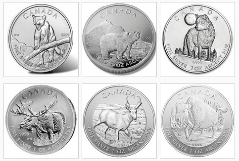 Silver Canadian Wildlife Series
