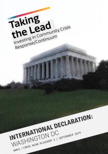 IIMHL DC Crisis Declaration Cover