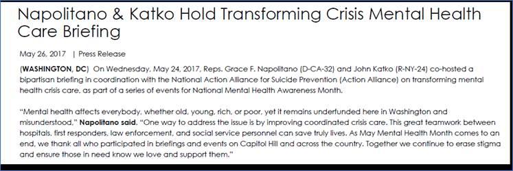 David Covington, CEO & President RI International, Testifies at Transforming Crisis Mental Health Care Briefing
