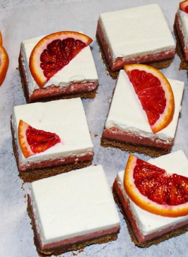Blood Orange Citrus Bars
