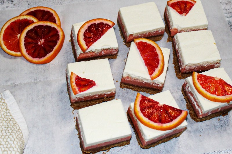 Blood Orange Citrus Bars