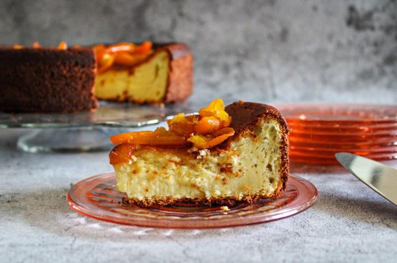 Ricotta Cake with Kumquat Marmalade