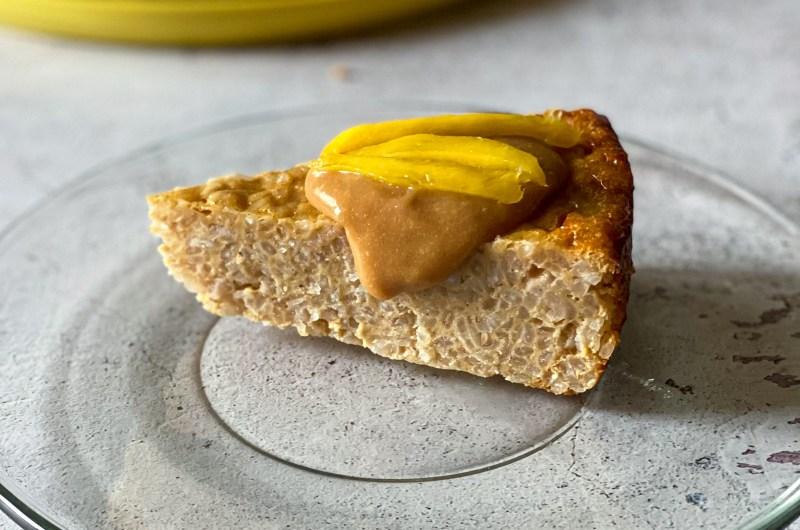 Rice Pudding Cake with Mango Caramel
