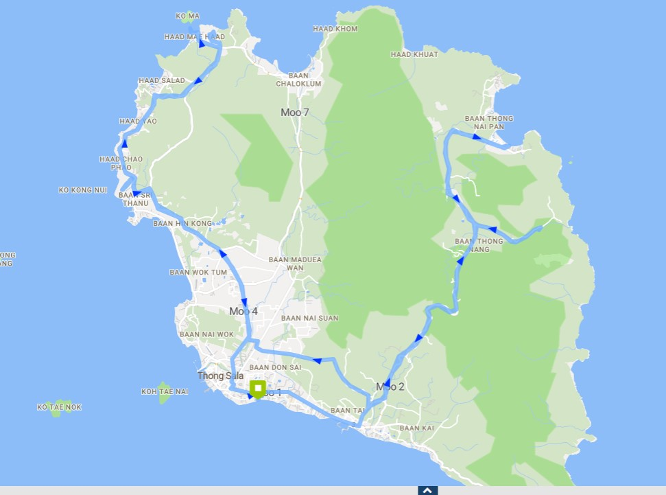 Mingalaba Road Trip route