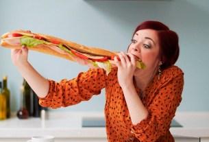 фастфуд,вредно,аппетит,женщина