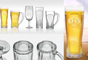 EFES, пиво, бокалы