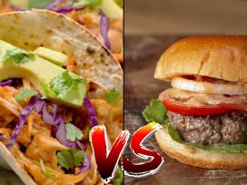 Бургер, сравнение, фаст-фуд