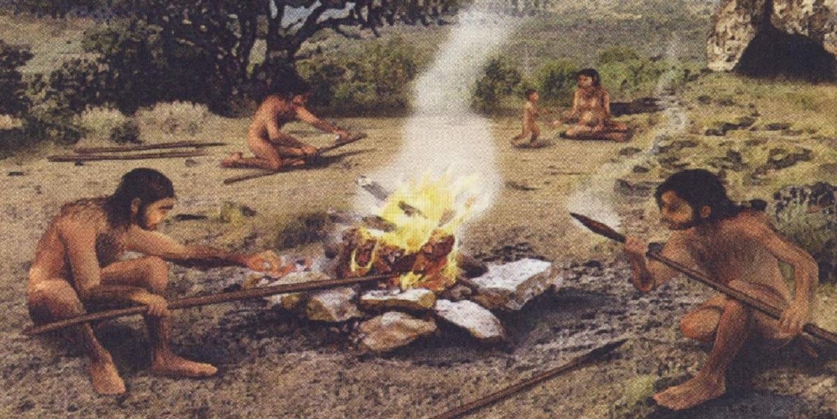 Археология, древние люди, изобретение огня