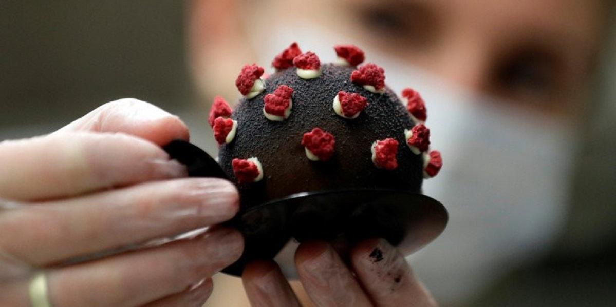 Чехия, пирожное, коронавирус, Czarna Madonna