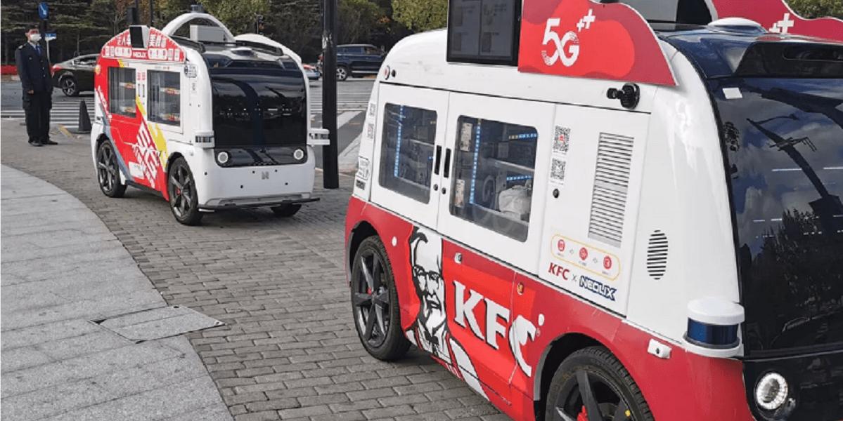KFC, Китай, фудтрак, бесконтактный фудтрак, Neolix