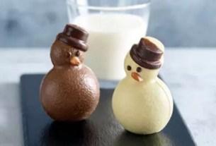 Aldi, Великобритания, тающие снеговики, горячий шоколад, Новый год