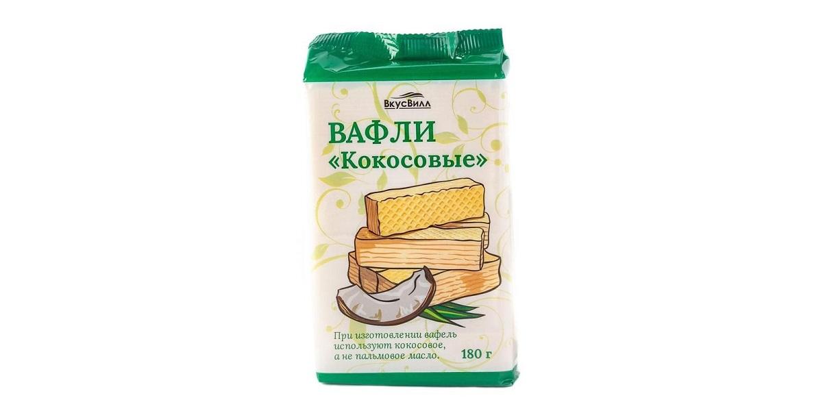 «ВкусВилл», СТМ, Белоруссия, вафли кокосовое масло
