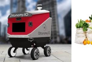 робот-курьер Ottonomy, доставка 40 кг, курьер-тяжеловес