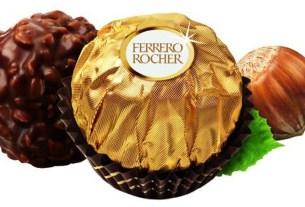 Ferrero, лесные орехи, хартия,