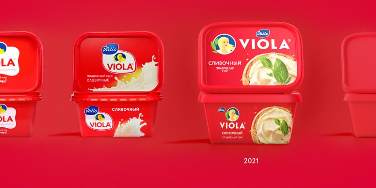 плавленый сыр Viola, сыр Viola, новая упаковка Viola
