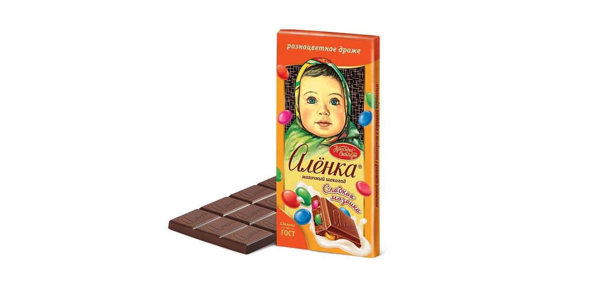 «Объединенные кондитеры», Шоколадка «Алёнка», «Алёнка» с драже