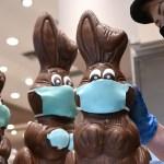 COVID-19, пасхальный заяц, заяц в маске, шоколадный заяц