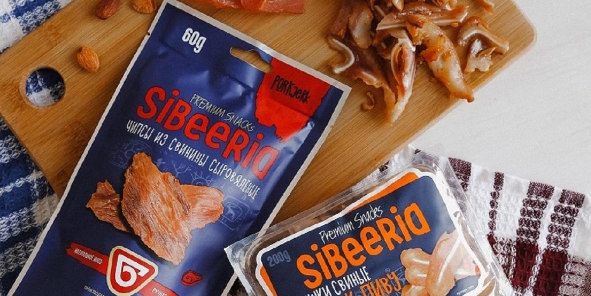 «Омский бекон», сибирские снеки SIBEERIA, мясные чипсы, свинина