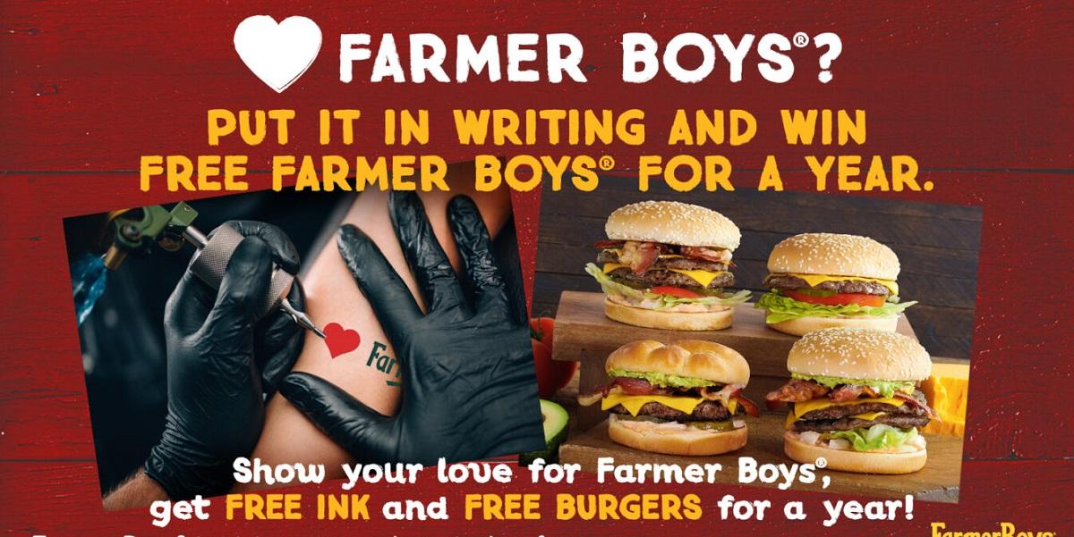 Farmer Boys, ресторан, фастфуд, бургерная, США, акция, юбилей , бургер за тату