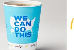 McDonald's, кофе, стакан кофе, Джо Байден