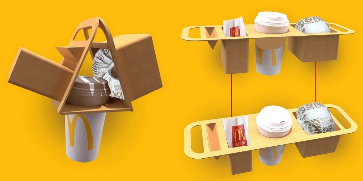 Рохит Субхаш Павар, McDonald's, упаковка навынос, упаковка заказа McDonald's, фастфуд, Индия