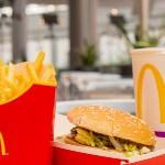 McDonalds, бургер, картофель