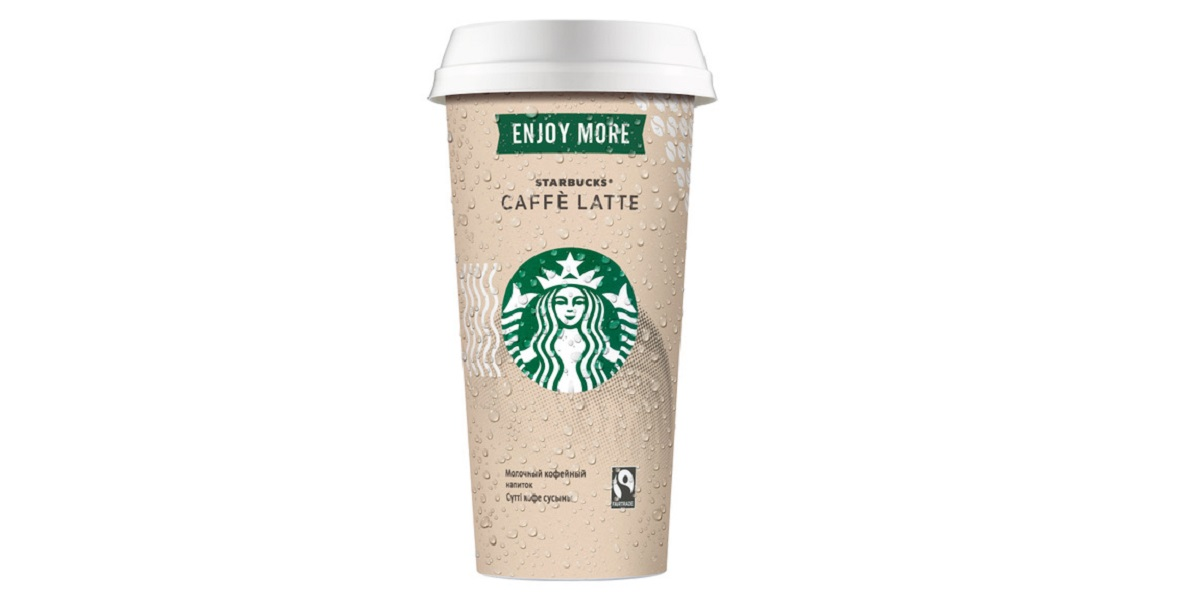 Starbucks Caffè Latte, Starbucks, больший объем, 330 мл, большой стакан, латте