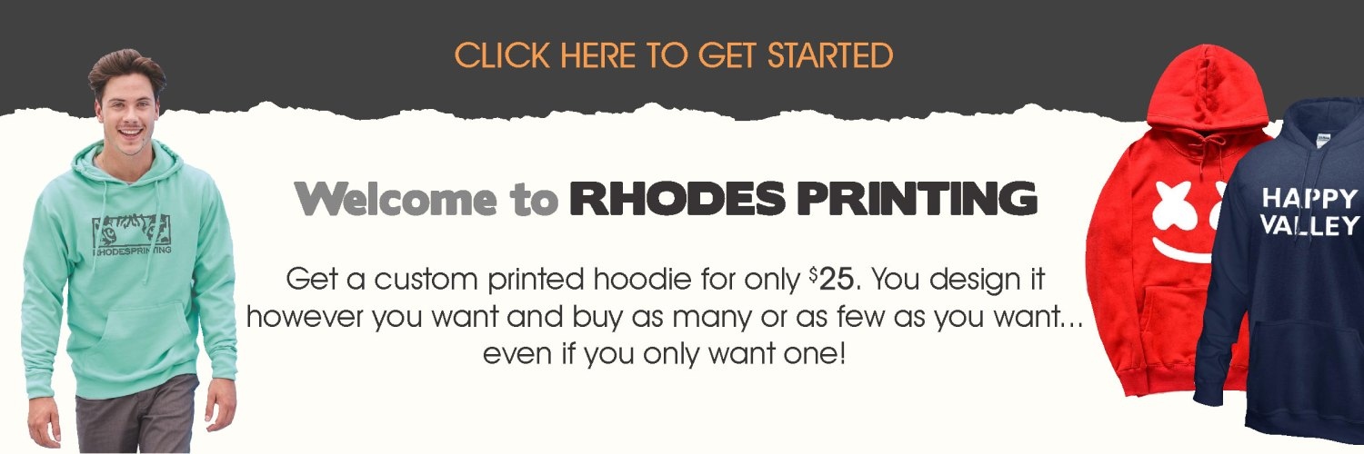 get started screen printing hoodies