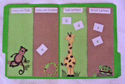 Kindergarten Kindergarten  File Folder Games File Folder Game Letter Sor