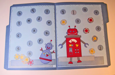 Kindergarten Kindergarten  File Folder Games Alphabet File Folder Game