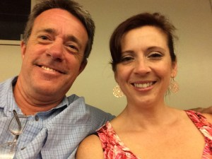 My hubby and I, waiting for the show to start.