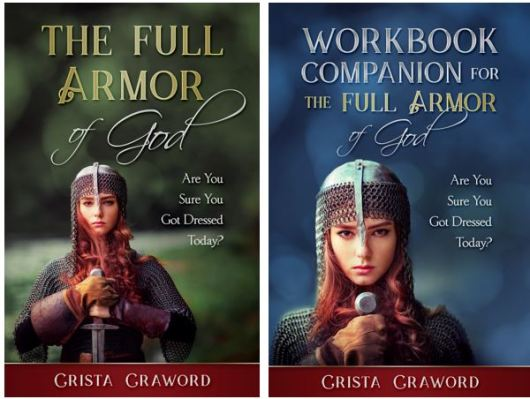 Cover of books for The Armor of God and the Workbook Companion