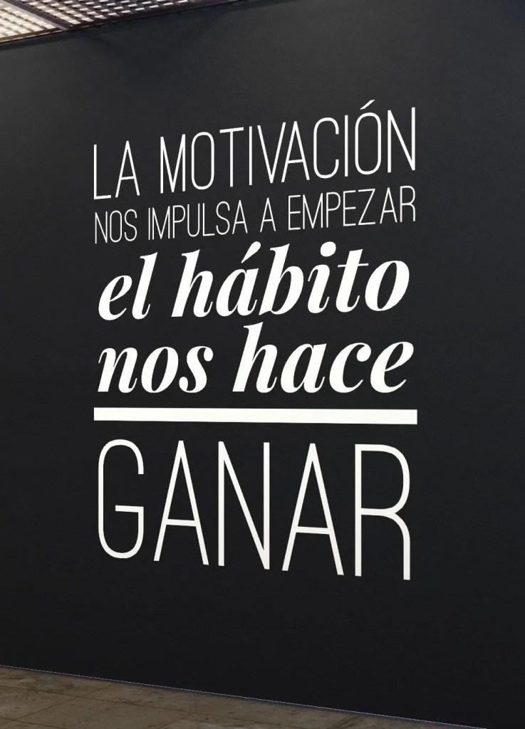 Frase sobre la motivación.