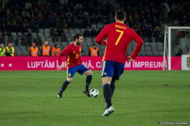 Alvaro Morata and Juan Mata in Romania - Spain