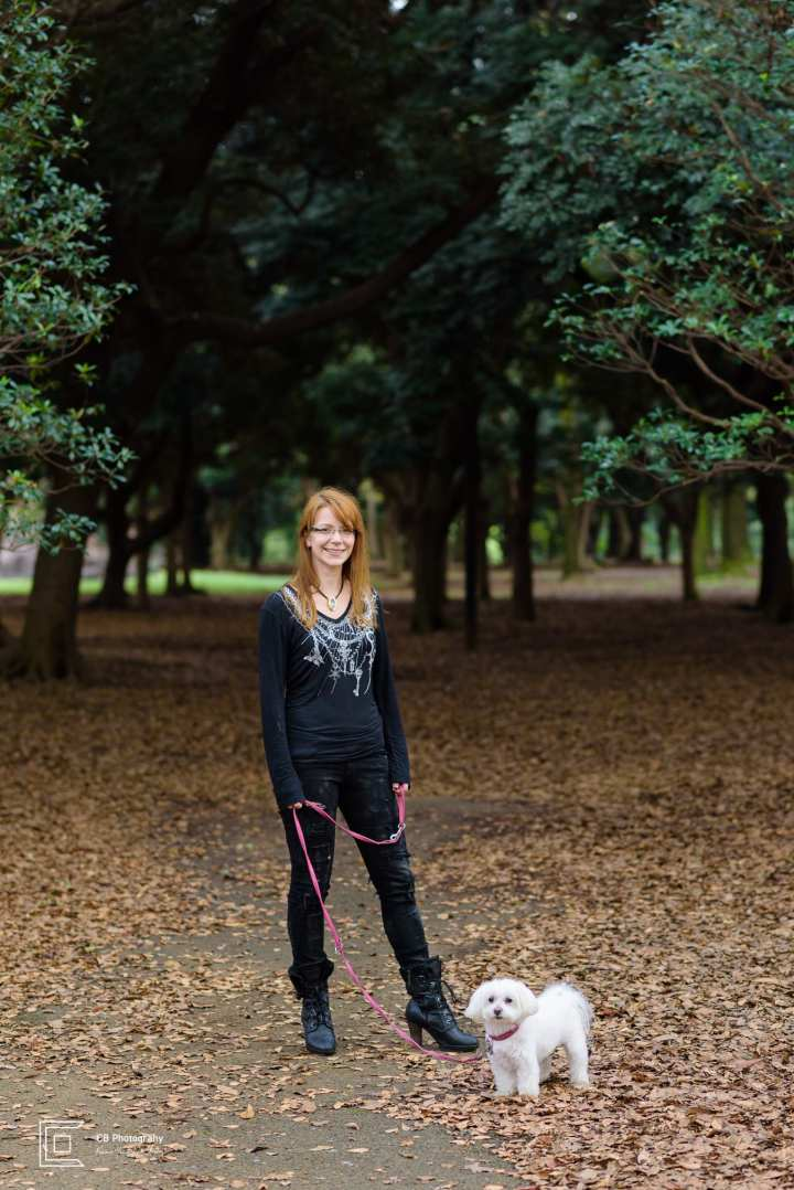 Outdoor Pet and Owner Portrait by the Tokyo Photographer Cristian Bucur