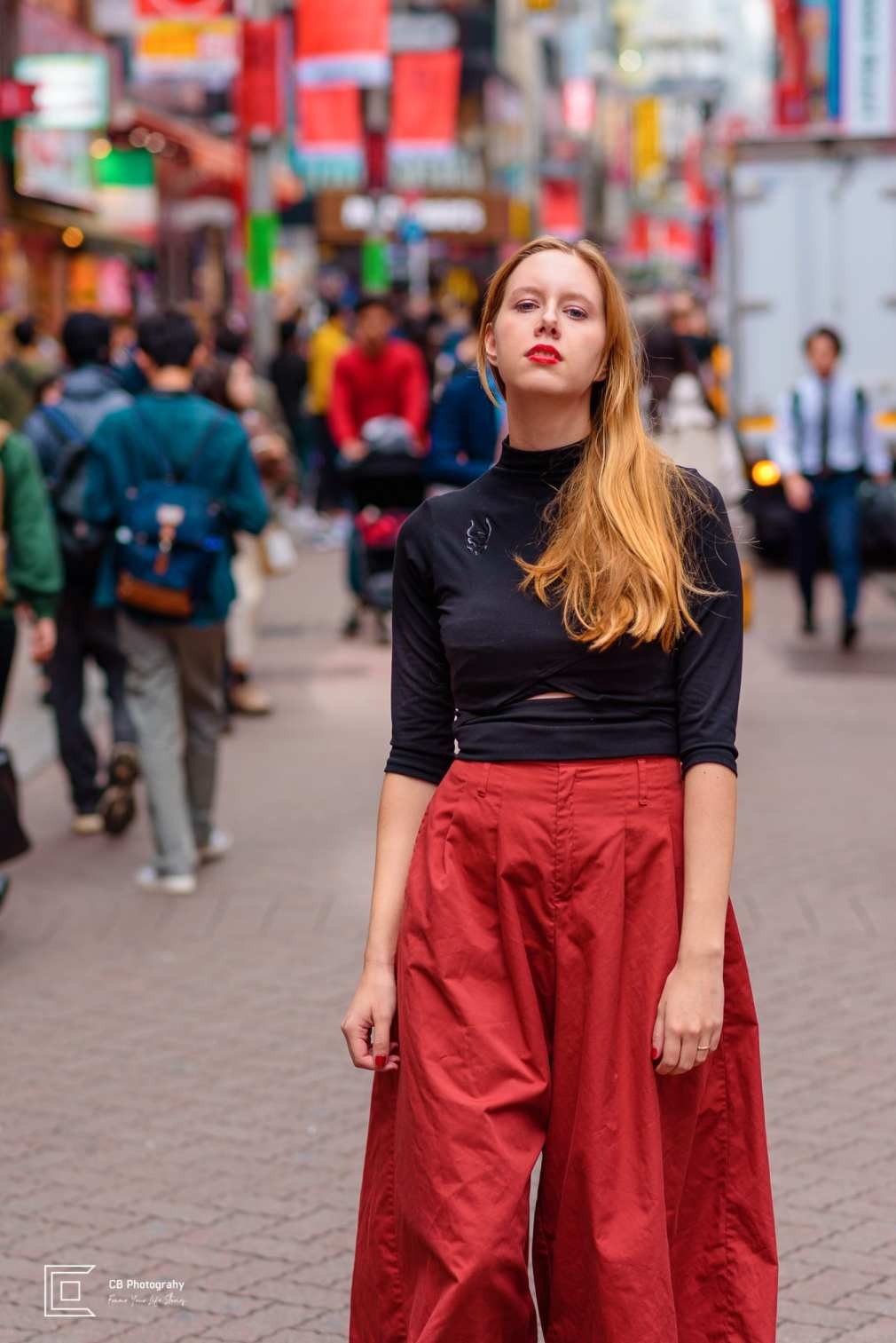 Portrait of a model from a portrait shoot in Shibuya by the Tokyo Portrait Photographer Cristian Bucur