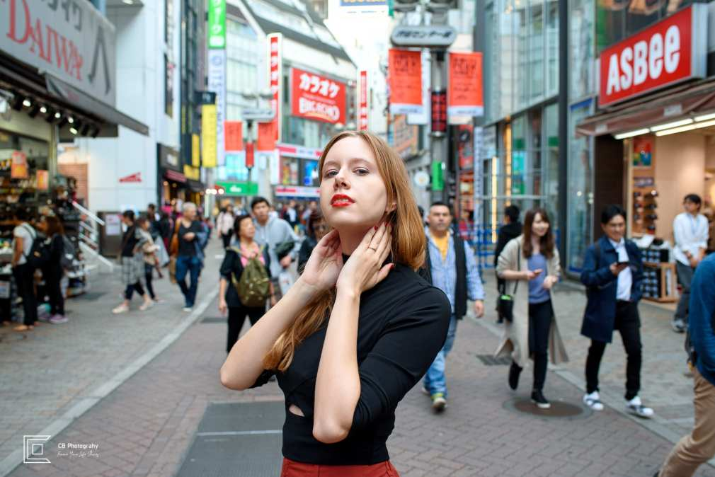 Portrait of a model from a portrait shoot in Shibuya by the Tokyo Photographer Cristian Bucur