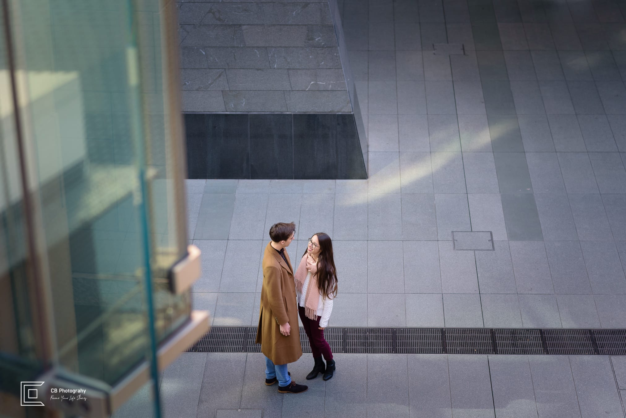 Couple portrait taken during a shoot in Roppongi Hills by the Tokyo photographer Cristian Bucur